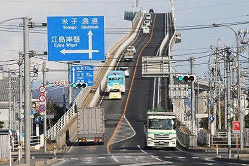 日本江岛大桥斜率为6.1% 成为旅游新热点