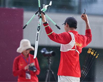 中国射箭队总教练:队员能力进步很多 实战心理把控仍需提高
